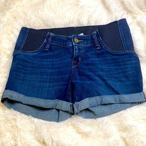 Isabel Maternity Blue Jean Shorts Sz. 0 Size 25